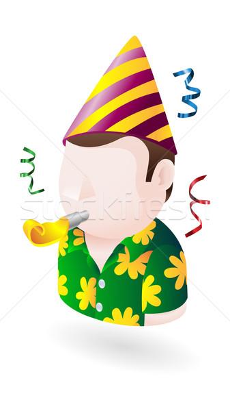 вечеринка чувак икона иллюстрация человека рождения Сток-фото © Krisdog