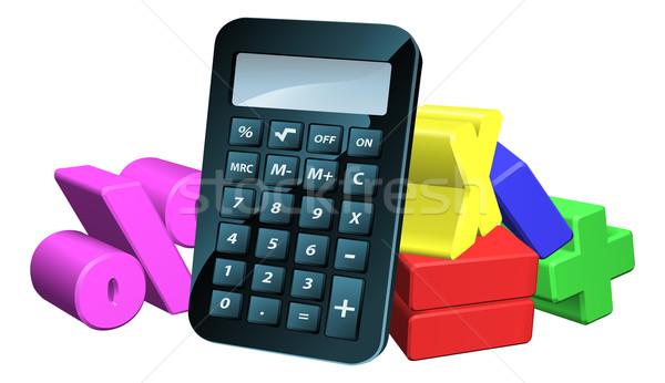 電卓 男 数学 シンボル 実例 3D ストックフォト © Krisdog