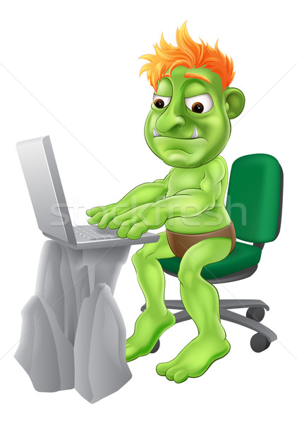 Internet troll concept Stock photo © Krisdog