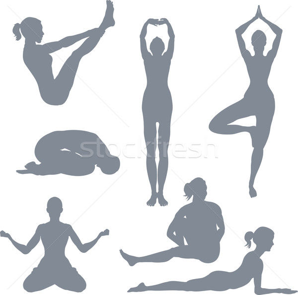 Yoga postures Stock photo © Krisdog