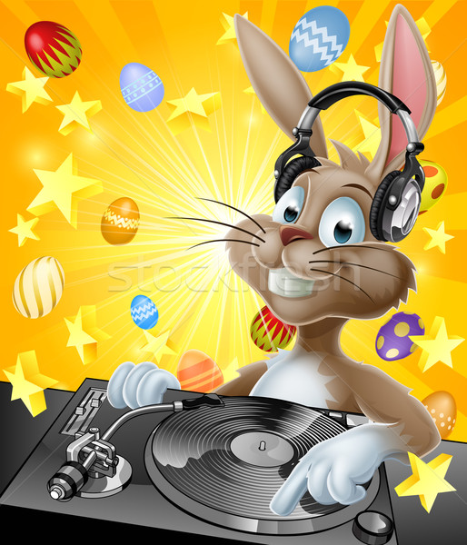 Easter Bunny DJ Stock photo © Krisdog