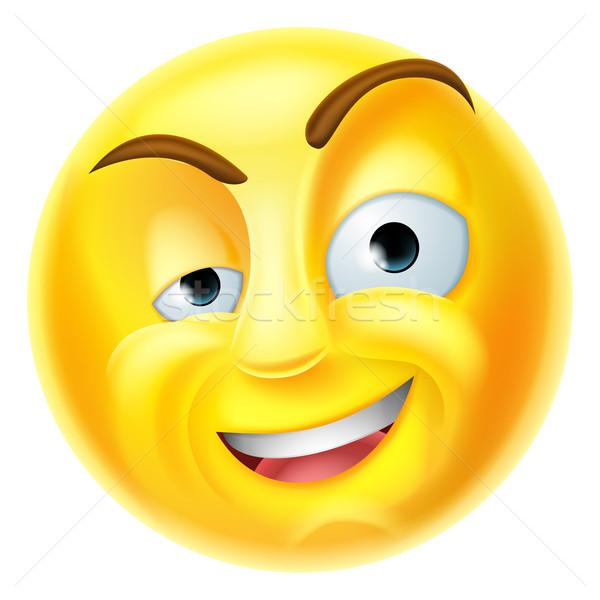 Charming Emoji Emoticon Stock photo © Krisdog