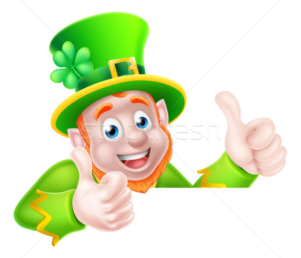 Leprechaun Cartoon  Stock photo © Krisdog