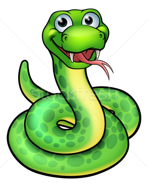 ヘビ 実例 かわいい 漫画 マスコット ストックフォト © Krisdog