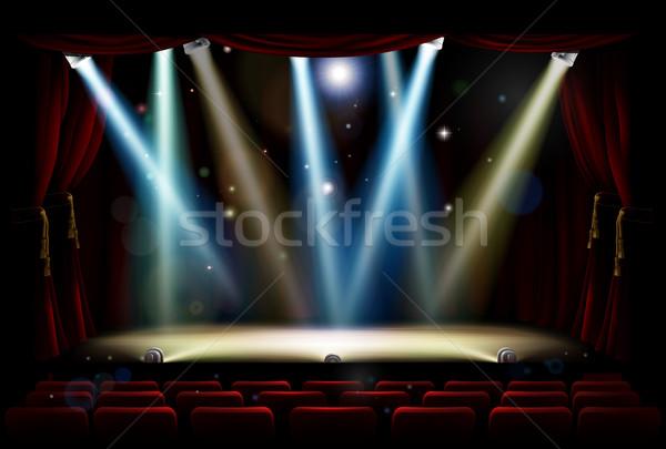 Сток-фото: место · фары · театра · этап · театра · аудитории