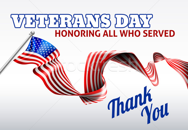 Dzień amerykańską flagę projektu wstążka usługi żołnierz Zdjęcia stock © Krisdog
