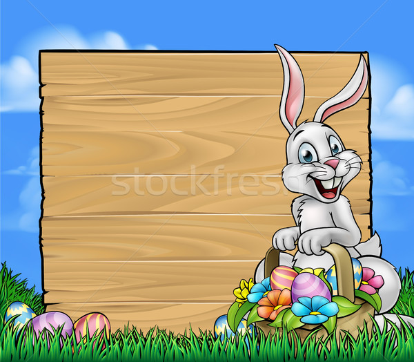 Stockfoto: Cartoon · Easter · Bunny · teken · ei · jacht
