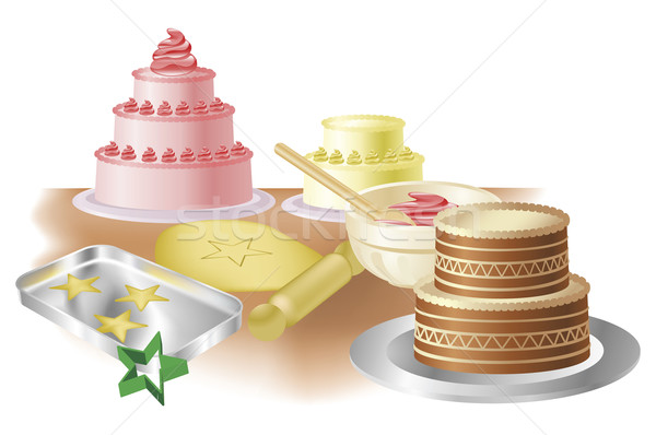 Stock photo: Baking cakes and cookies