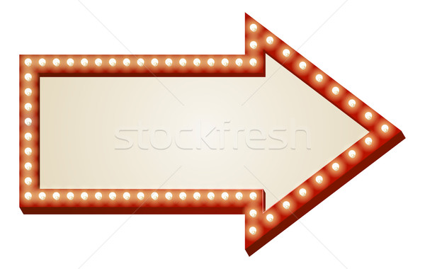 Arrow lights sign Stock photo © Krisdog