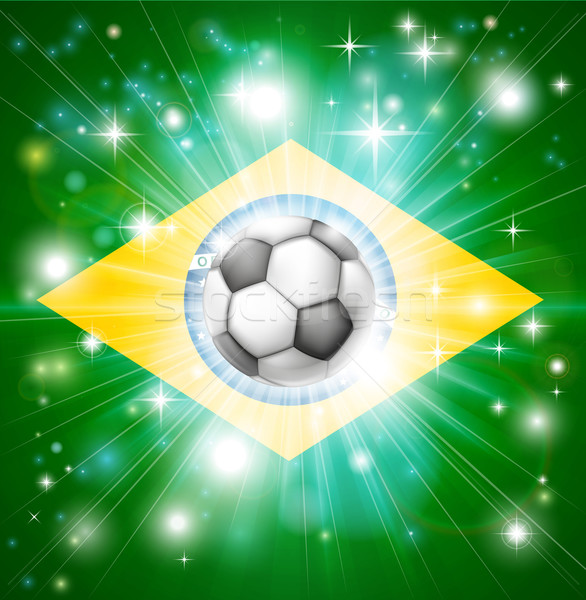 Brazil soccer flag Stock photo © Krisdog
