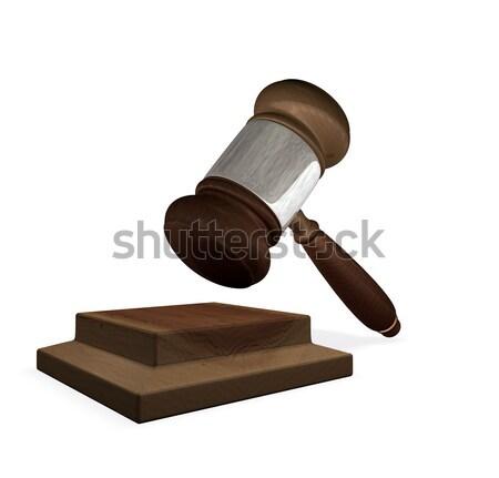 3d render magistrates gavel and block  Stock photo © Krisdog