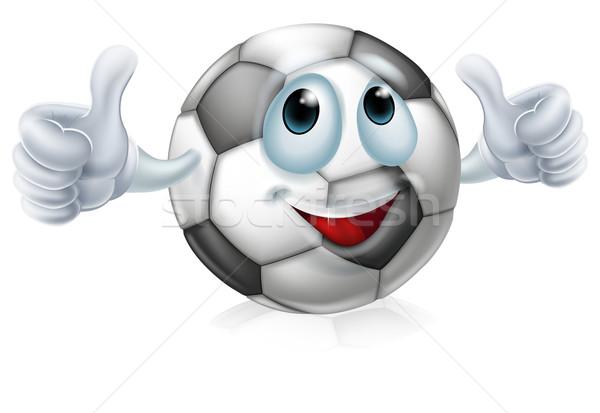 Cartoon soccer ball character Stock photo © Krisdog