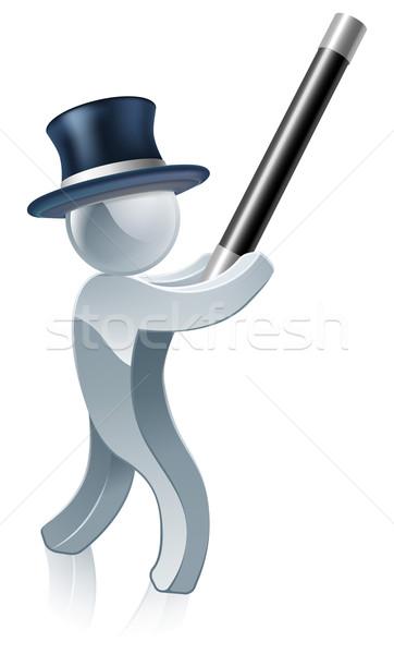 Silver mascot magician Stock photo © Krisdog