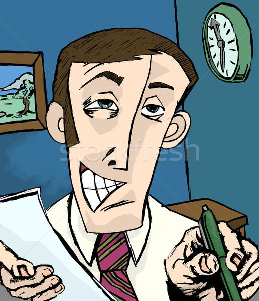 Stock photo: salesman illustration