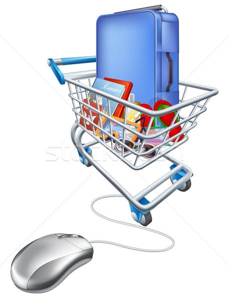 Internet shopping for vacation concept Stock photo © Krisdog