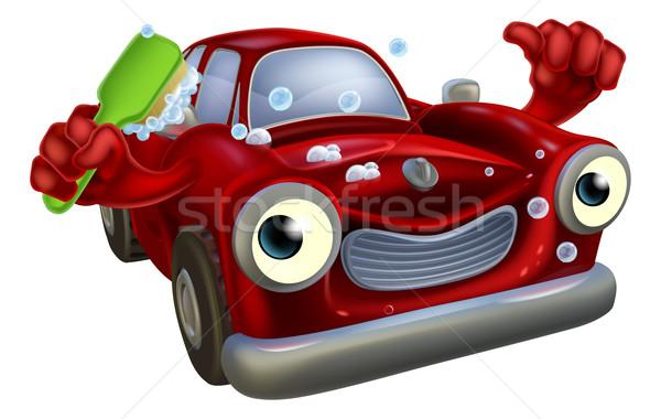 Car wash mascot Stock photo © Krisdog