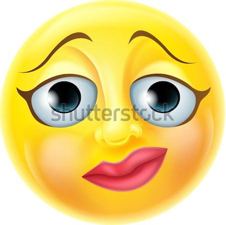 Beautiful Female Emoticon Stock photo © Krisdog