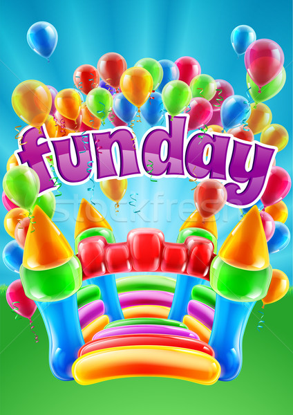 Bouncy Castle Funday Design Stock photo © Krisdog