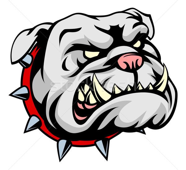 Stock photo: Bulldog Cartoon Mascot