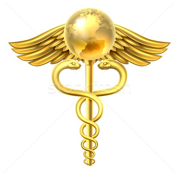 Caduceus Globe Medical Symbol Concept Stock photo © Krisdog