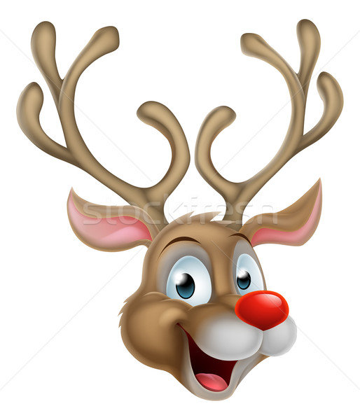 Cartoon Christmas Reindeer Stock photo © Krisdog