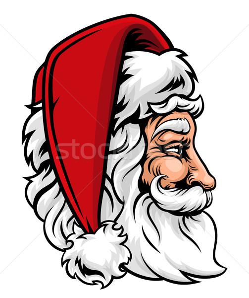 Christmas Santa Claus in Profile Stock photo © Krisdog