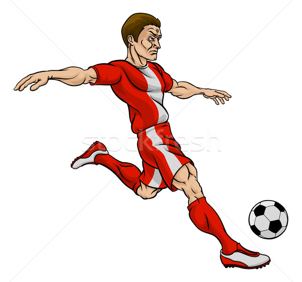 Football Soccer Player Cartoon Character Stock photo © Krisdog