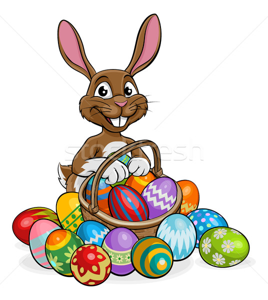 Stockfoto: Easter · Bunny · ei · jacht · cartoon · bunny