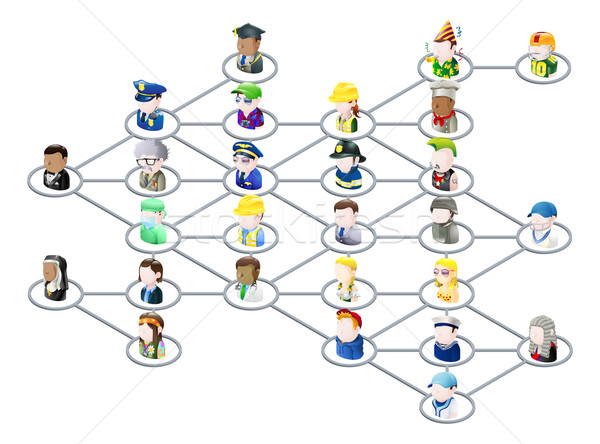 Zdjęcia stock: Ludzi · sieci · graficzne · wraz · jak · social · media