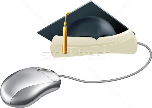 Graduation computer mouse concept Stock photo © Krisdog