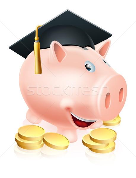 Graduation Piggy bank Stock photo © Krisdog