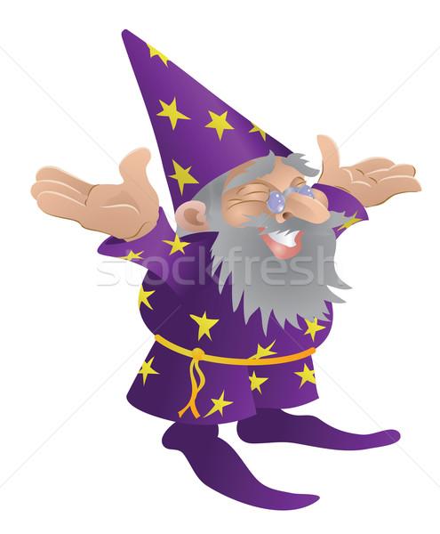 Wizard illustration Stock photo © Krisdog