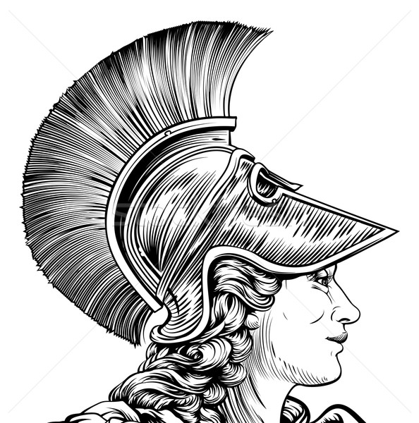 Foto stock: Antigo · grego · guerreiro · mulher · vintage · estilo