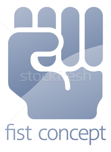 Fist Concept Stock photo © Krisdog