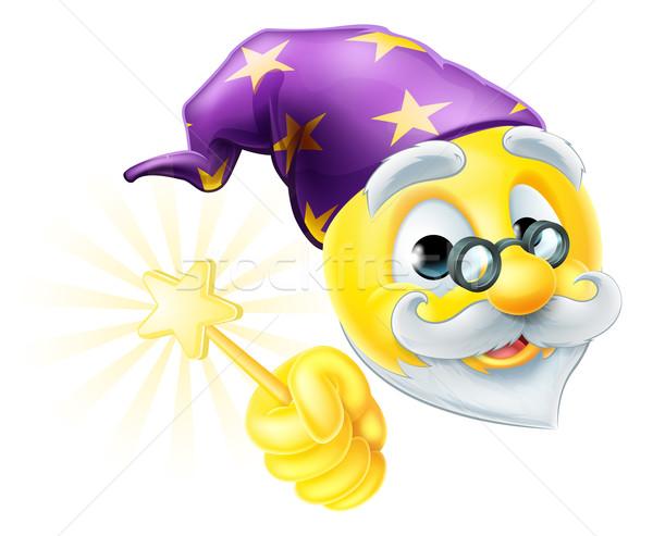 Wizard Emoji Emoticon Stock photo © Krisdog