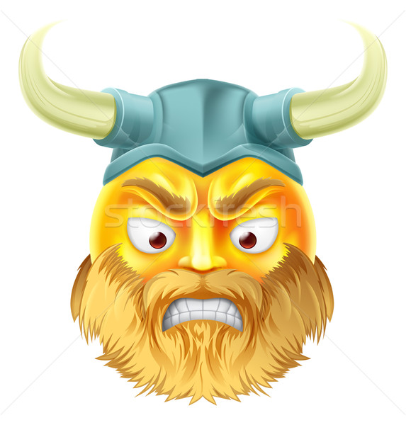 Viking Emoji Emoticon Stock photo © Krisdog