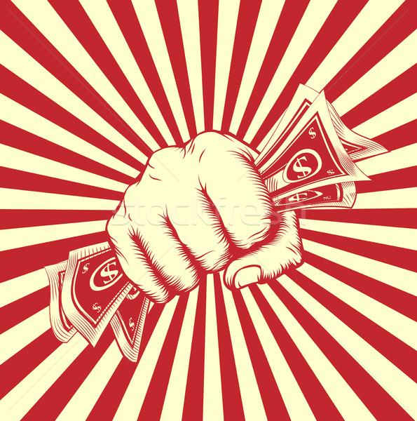 Puno efectivo dinero vintage revolución Foto stock © Krisdog