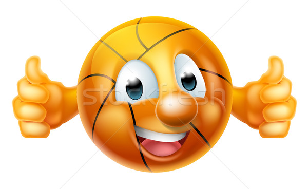 Cartoon Basketball Ball Mascot Stock photo © Krisdog