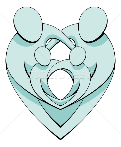 Heart Family Concept Graphic Stock photo © Krisdog
