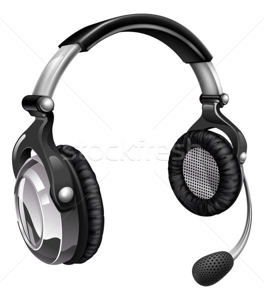 Microphone headset Stock photo © Krisdog
