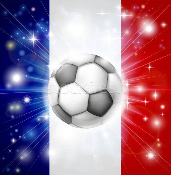 France soccer flag Stock photo © Krisdog