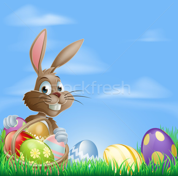 Stock photo: Easter background scene