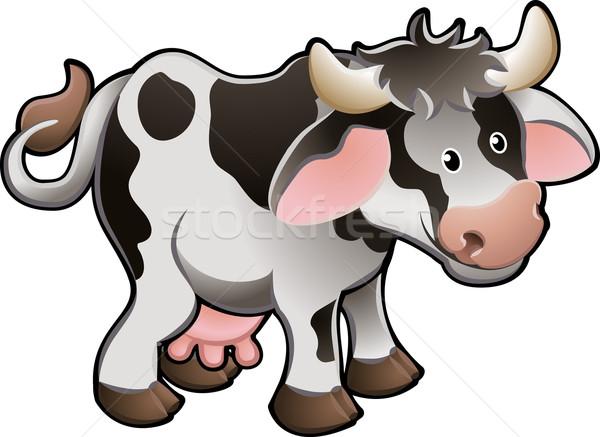 Cute Dairy Cow Vector Illustration Stock photo © Krisdog