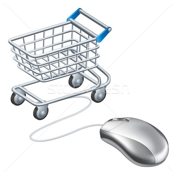 Online shopping cart mouse Stock photo © Krisdog