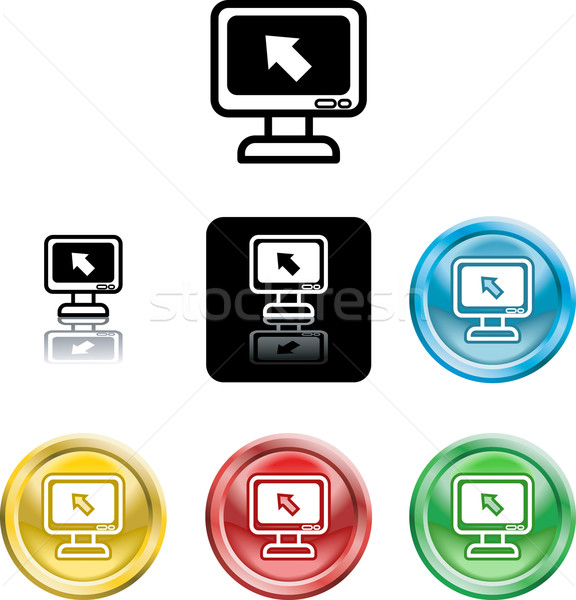 computer monitor icon symbol Stock photo © Krisdog