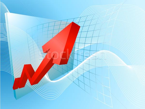 Stock fotó: üzlet · profit · illusztráció · grafikon · pénz · háttér