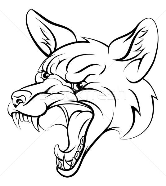 Fox sport personnage animaux mascotte Photo stock © Krisdog