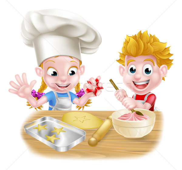 Cartoon Kids Baking Vector Illustration 169 Christos