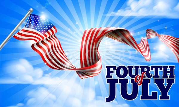 Fourth of July Independence Day American Flag Stock photo © Krisdog