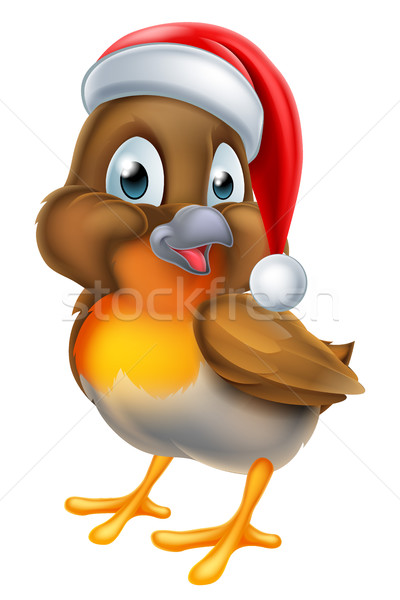 Christmas Cartoon Robin Bird Stock photo © Krisdog